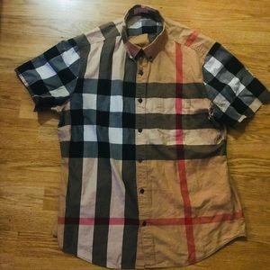 "Burberry Brit ""Fred"" Trim Fit Short Sleeve Shirt"